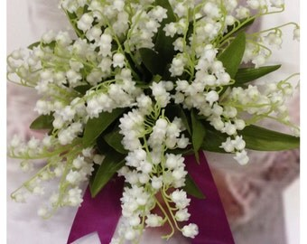 Custom Artificial White Lily Of the Valley Wedding Flowers