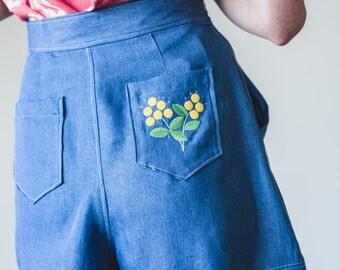 Yeah Nah Wattle You Do Shorts - Handmade by Alice