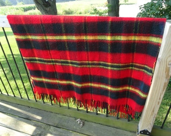 Vintage Fringe Lap Blanket Fall Colors