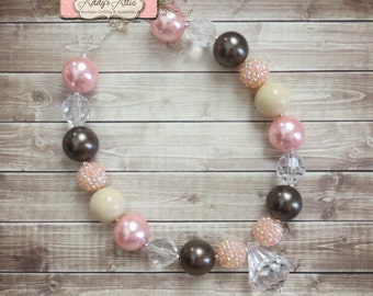 Chunky Necklace, Kids Necklace, Chunky Beaded Necklace, Childrens Necklace, Photo Prop, Gumball Necklace