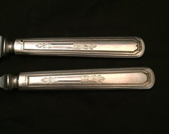Hostess Carving Knife And Fork Set,  Mayfair Pattern, 1923 WM Rogers And Son