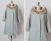 vintage 1950s coat / 1950s Lilli Ann coat / powder blue coat / Tavernier coat