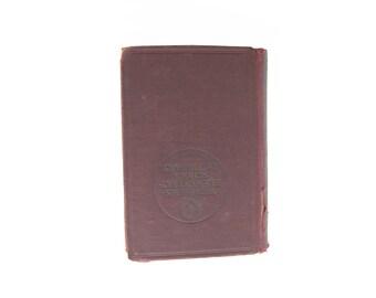 1914 Webster's Shorter School Dictionary hardcover