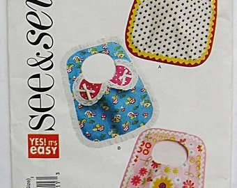 Easy Baby Bibs See & Sew Butterick 5669 Sewing Pattern UNCUT
