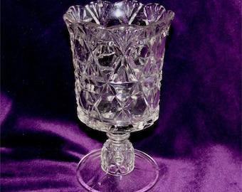 "EAPG ""Block and Fan"" Celery VASE 1891 U.S. Glass or SPOONER"