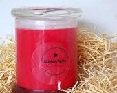 McIntosh Apples Handmade Vegan Soy Candle, 12 oz Status Jar with Lid