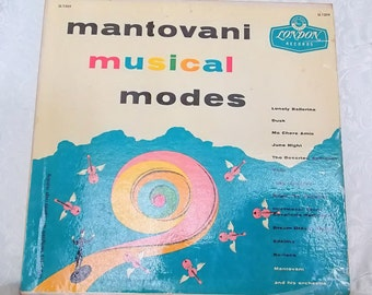 Mantovani & His Orchestra, Musical Modes, 1956 London Records LL 1259, Vintage Vinyl Record, Vintage Classical Music Vintage Orchestra Music