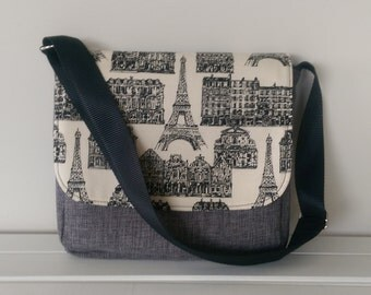 SALE Messenger -  Grey French