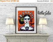 55% Off- Mexican Folk Art - Day of the Dead Art  Art Print Poster by Heather Galler Art of Frida Kahlo Painting