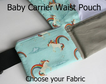 Custom Baby Carrier Waist Pouch - Choose Your Fabric or Made to Match Tula and Kinderpack Carriers (Made to Order in 2-3 weeks)