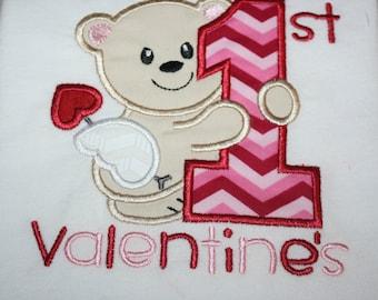 Valentines Shirt-Baby Bib-1st Valentine bib, Cupid Baby Bib- Baby Boy bib or Baby Girl Bib, Valentines day Baby bib, Minky Baby Bib