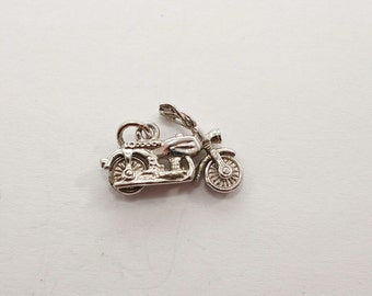 Vintage Sterling Motorcycle Charm