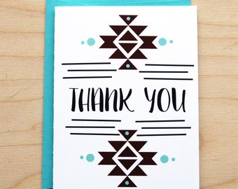 Aztec Thank You Card