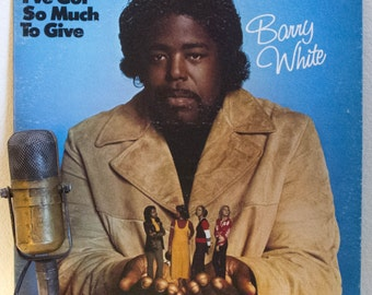 "ON SALE Barry White Vinyl Records Albums LPs 1970s Soul Music Groove Lover Smooch Disco Love Songs ""I've Got So Much To Give"" (1973 20th Cen"