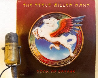 "ON SALE Steve Miller Vinyl Record Album 1970s Classic Rock Guitar ""Book of Dreams"" (1977 Capitol w/""Jet Airliner"", ""Jungle Love"") Vintage Vi"