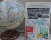 States Vintage Travel Pack (West Virgina)- Vintage paper ephemera lot  Paper pack, pamphlet, stamps, photos, postcards, maps, info cards