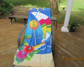 Sailboat beach towel-30x60 inches-Personalized-on Sale