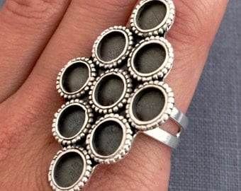 Nine Circles Sterling Silver Statement Ring