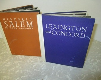 HISTORIC SALEM and Lexington and Concord Vintage Book Set -  Lots of Photos