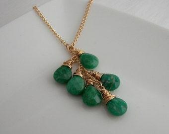 Russian Amazonite Lariat Necklace