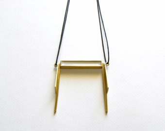Gold Pendant Necklace-Geometric Pendant Necklace-Modern Gold Necklace-Greek Modern Jewellery-Greek Inspired-Contemporary Jewelry