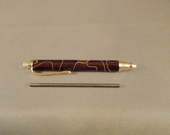 Mini Sketch Pencil - Copper with Gold Swirl Pearl Acrylic