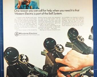 Vintage Magazine Ad Print Design Advertising Western Electric Bell Telephone