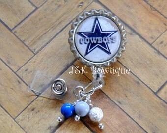 Dallas Cowboys football team- retractable badge reel