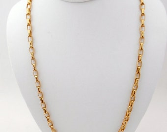Vintage Yellow Gold Textured Chain