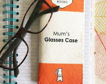 Glasses Case - Spectacles Case - Spectacles Holder - Personalised Book - Reading Glasses Case - Eye Glasses Holder - FREE Glasses Cloth