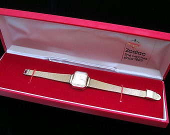 Ladies Gold Zodiac Watch - Original Box