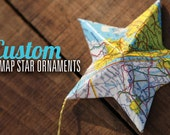 Custom Map Star Ornament - ALPHARETTA, Georgia