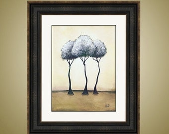 PRINT or GICLEE Reproduction Abstract Tree - Three Trees - Only 50 Signed Available - Mirage by Britt Hallowell