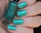"""Nail polish - """"Lyrical"""" turquoise green holo polish"""