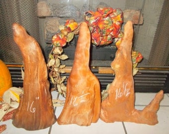 """Cypress Knees, Set of 3 16"""" Paint Characters, Wood Craft 9-29-16-1  FREE SHIPPING!!!"""