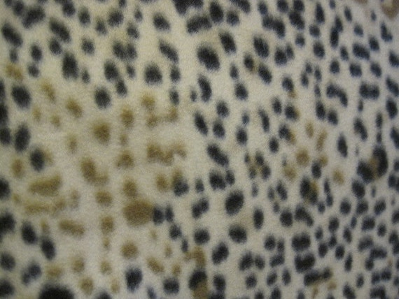 Fleece Blanket of Cheetah Spots in Black and Browns with Black - Ready to Ship Now