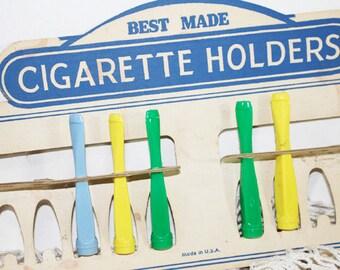 Vintage Cigarette Holders, Plastic, In original display board