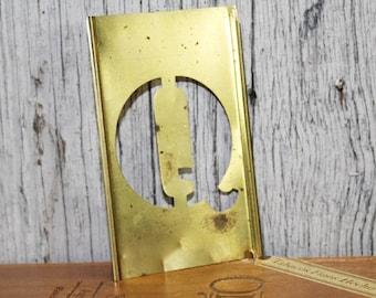 Brass Stencil, Letter Q, Capital Letter Q, Metal Stencil, 4 inch stencil