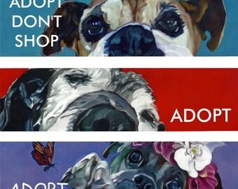 Dog Bumper Stickers ADOPT or RESCUE