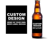 Custom Beer Bottle Labels - Create Your Own Beer Label Design - Personalized Adult Birthday Wedding Favors Waterproof Beer Stickers BL-8888