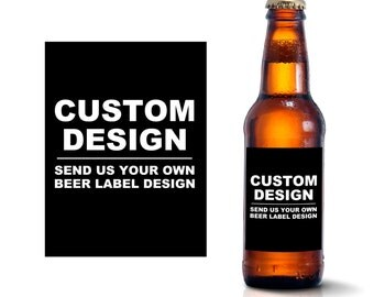 Custom Beer Bottle Labels - Create Your Own Beer Label Design - Personalized Adult Birthday Wedding Favors Waterproof Beer Stickers BL-8888