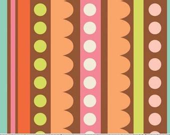 Sweet Nothings Brown Sweet Stripes by Zoe Pearn Designs for Riley Blake, 1/2 yard