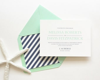 Wedding Invitation Sample - The Davis Suite