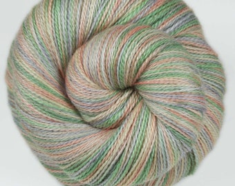 HEY PUMPKIN Superwash Merino/Silk/Stellina Lace Weight Yarn