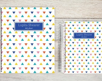 Monthly Planner  | 24 Month Planner | Personalized Monthly Planner | Calendar Planner | 2 Year Planner | Month On Two Pages| triangle