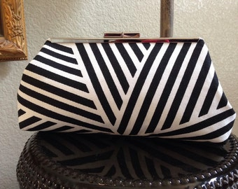Black and White Graphic Clutch