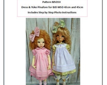 Pattern MSD10 Dress and Yoke Pinafore for BJD MSD Fit to Kaye Wiggs MSD 43cm and 45cm