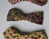 Vintage 1950's Men's Clip on Bow Ties - G