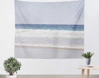 Dorm Room Tapestry - Dorm Tapestry - Nautical Photo - Beach Tapestry - Beach House Decor - Wall Decor Art - Blue and White Decor