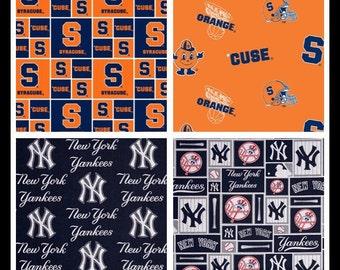Custom Syracuse and Yankees Burp Rag Set